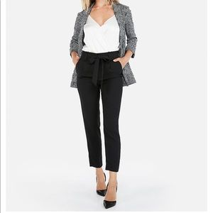 NWT! EXPRESS high-wasted ankle sash pants